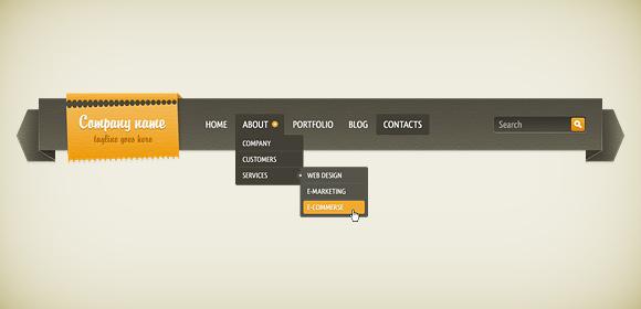 Navigation Bar In Adobe Fireworks
